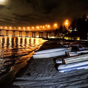 Boatmeal Raisin by Brendan Mcmenamy - Novices Only Landscapes ( night, raisin, boat, light, meal )