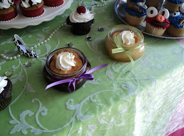 This Was A Small Portion Of The Dessert Table I Did For My Niece's Open House This Summer...jar Cobbler On The Left Is Blueberry, And One On Right Is Peach.  I Also Did Cherry...