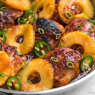 Skillet Pineapple BBQ Chicken.