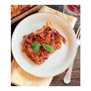 Beef & Eggplant Lasagna .