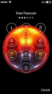 Tesla Light Ball Lock Screen - náhled