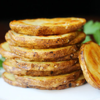 Olive Oil and Sea Salt Oven-Roasted Crispy Potato Rounds