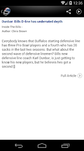 Buffalo Football News- screenshot thumbnail
