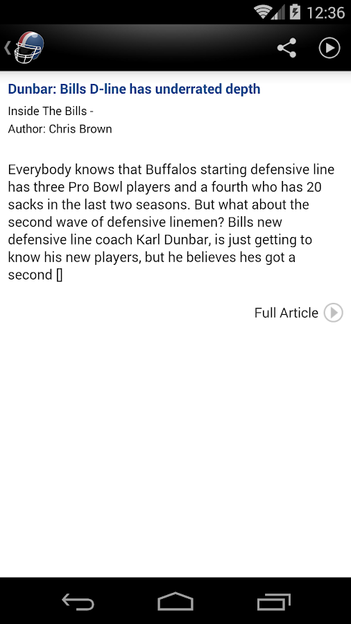 Buffalo Football News - screenshot