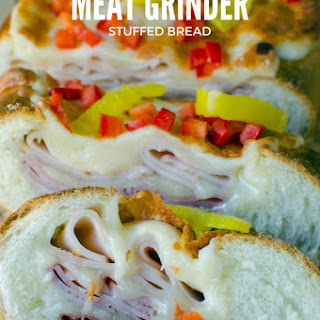Cheesy Meat Grinder Stuffed Bread.