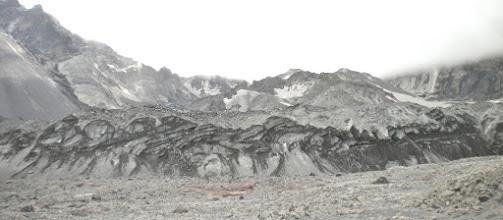 Photo: Crater Glacier surrounds the lava domes