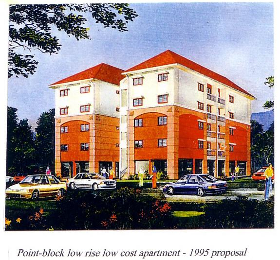 Point Block Low Rise Low Cost Apartments