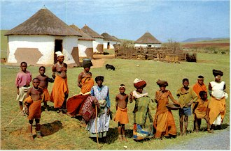 Xhosa people at the countryside