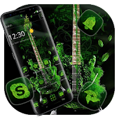 Green Leaf Guitar Theme Android APK Download Free By Abby Theme Center