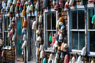 Photo: Buoys in back of Hotel Pemaquid
