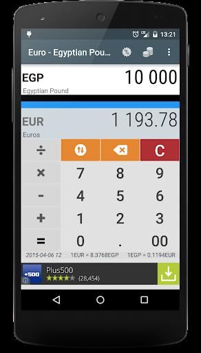 Euro to Egyptian Pound EUR EGP