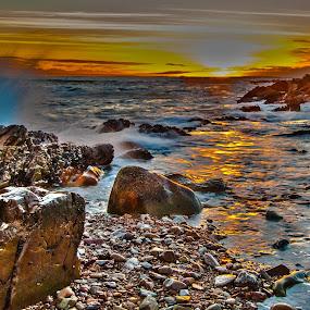 Sun Rays by Stephen Fouche - Landscapes Sunsets & Sunrises