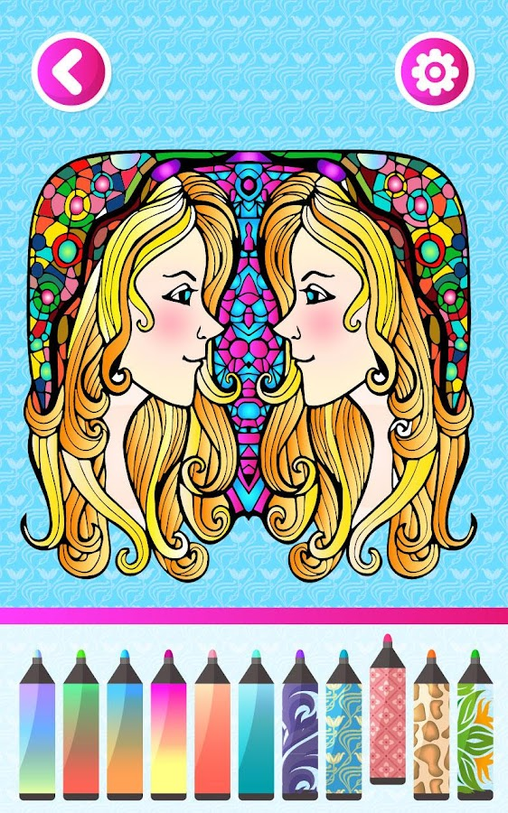 Coloring Book For Fashion : Fashion adult coloring books android apps on google play