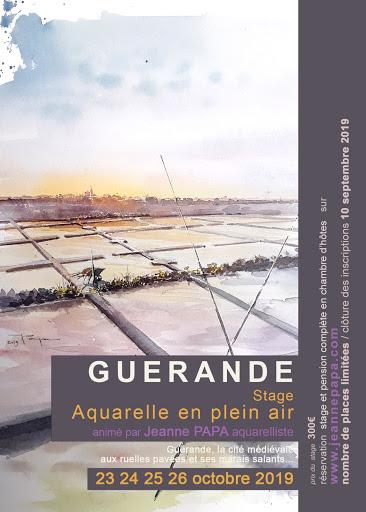 stage aquarelle STAGE AQUARELLE EN PLEIN AIR_GUERANDE 2019 Jeanne PAPA