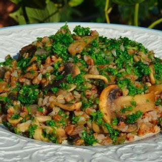 0 calories. Buckwheat porridge with mushrooms