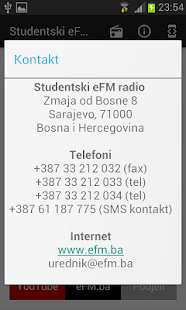 Studentski eFM radio- screenshot thumbnail