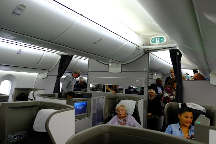 A return fare in Club World, British Airways's business class, will cost R33,740.