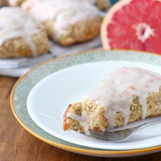 Glazed Grapefruit Poppyseed Scones Recipe