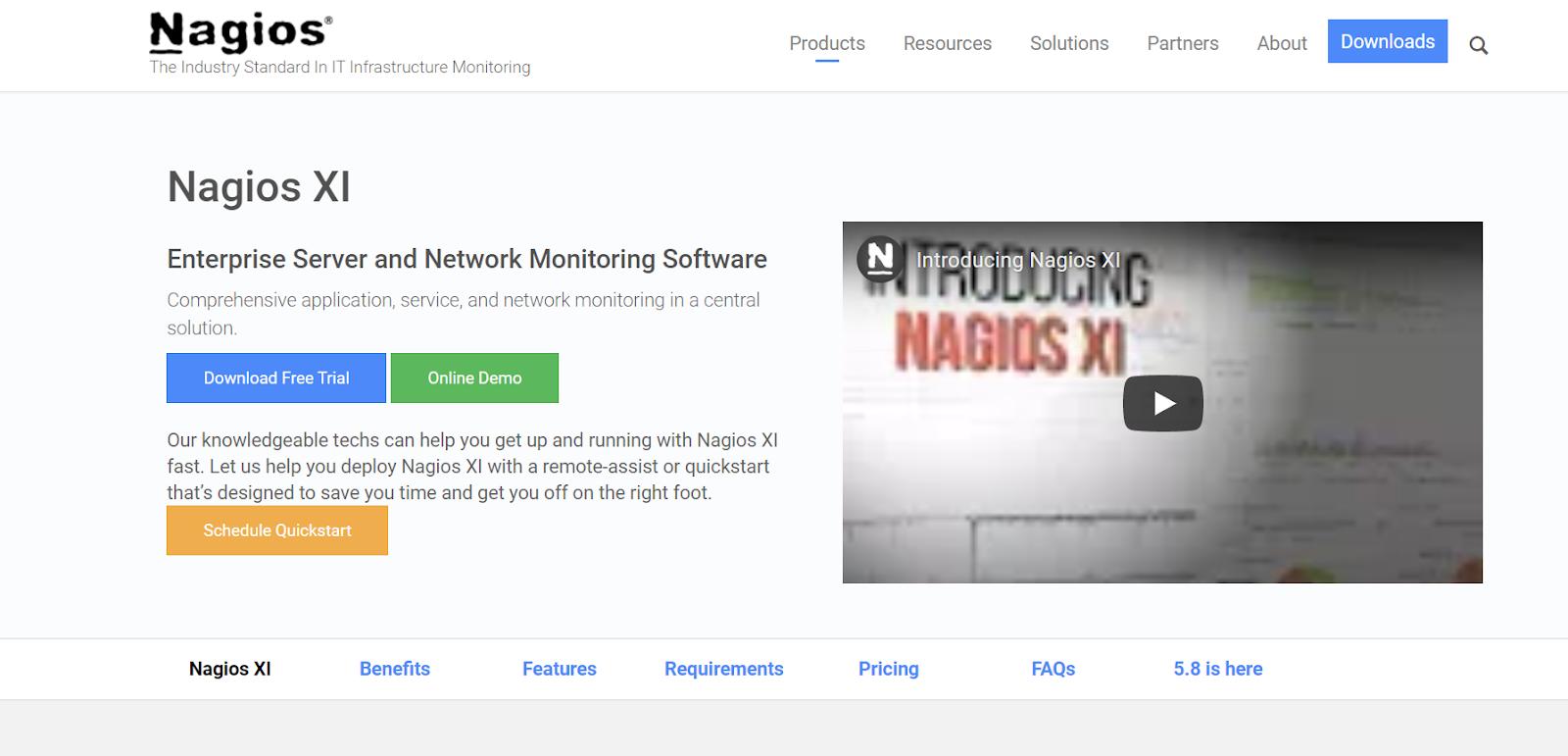 Nagios XI Network Performance Monitoring Tool