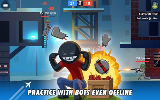 Stickman Combats: Multiplayer Stick Battle Shooter apktram screenshots 8