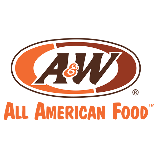 fast-food-logo-of-a-and-w-is-a-round-shape-with-orange-and-brown