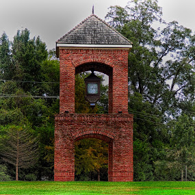 Clock Tower by Grady  Welch - Buildings & Architecture Other Exteriors ( red, virbant, clock, gree, brown, clock tower, tower )