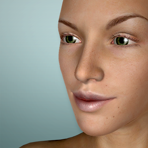 Face Model - 3D virtual human head pose tool