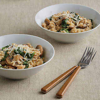 Mushroom and Spinach Risotto.