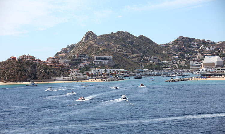 Some of the water activities along the shoreline in Cabo San Lucas, shot earlier this year during a Mexican Riviera cruise aboard Ruby Princess.