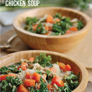 Nourishing Crock Pot Paleo Chicken & Kale Soup.