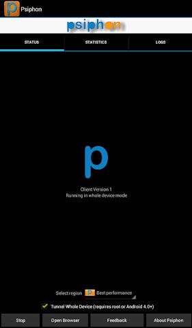 android Psiphon Pro Screenshot 9