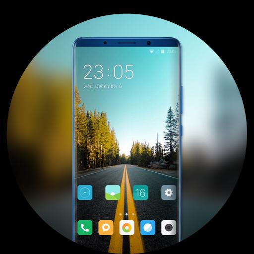 Theme for vivo v9 pro forest road dusk wallpaper icon