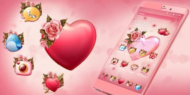 Flower Pink Love Theme - náhled