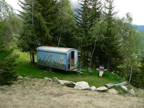 Photo: Graubünden, Stierva, Bauwagen (zum Mieten)