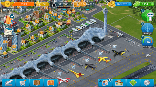 Airport City Mod Apk (Free Shopping) 7.24.17 5