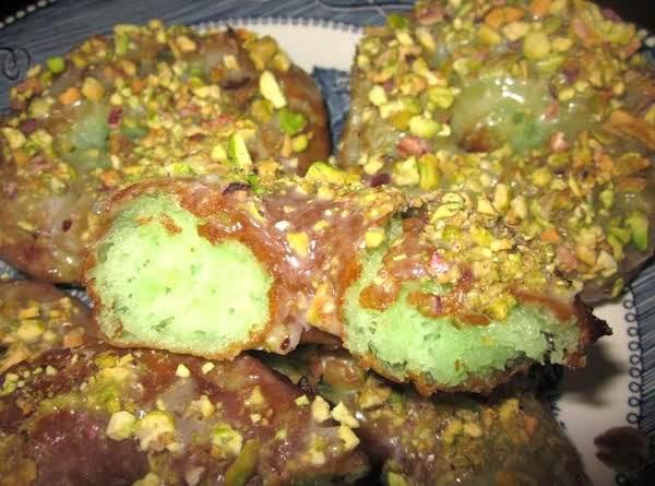 Pistachio Glazed Doughnuts Recipe