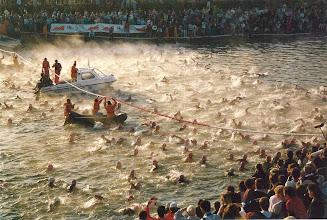 Photo: Swim start 1989