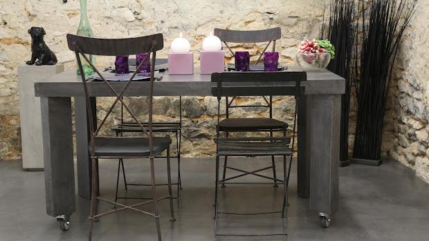 ambiance design et moderne sol de salle manger en bton cir - Table Salle A Manger Beton Cire