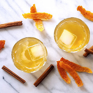 Cinnamon Spiced Old Fashioned with Muddled Blood Orange.