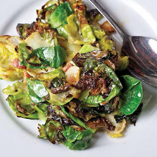 Sautéed Brussels Sprouts with Bacon Sherry Cream