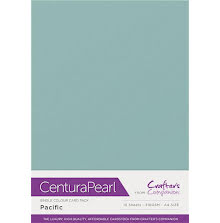Crafters Companion Centura Pearl Card Pack A4 10Pkg 300gr - Pacific
