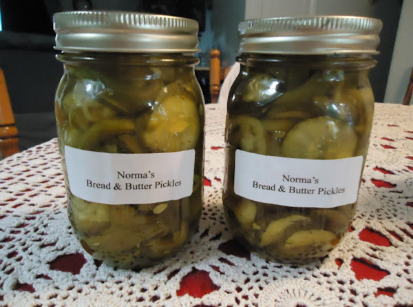 Norma's Easy Bread And Butter Pickles Recipe
