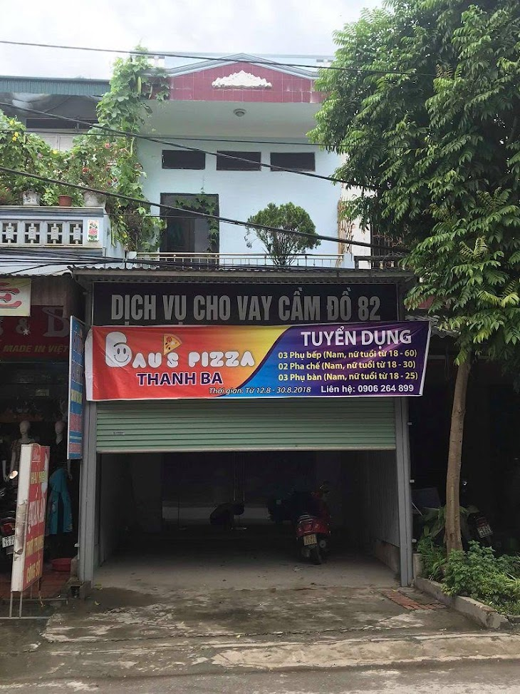 thiết kế cửa hàng pizza bau's 1