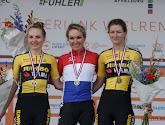 Na al die ereplaatsen eindelijk de hoofdprijs: Amy Pieters mag Nederlandse tricolore aantrekken