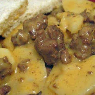 Hamburger Potato Cheese Casserole.