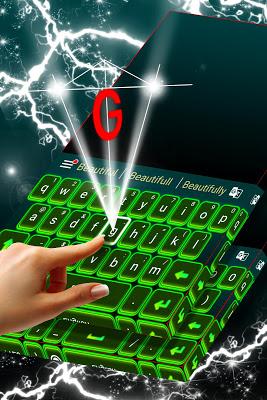 Stylish Green Keyboard Theme - screenshot