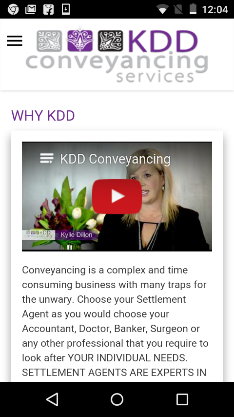 KDD Conveyancing Services- screenshot