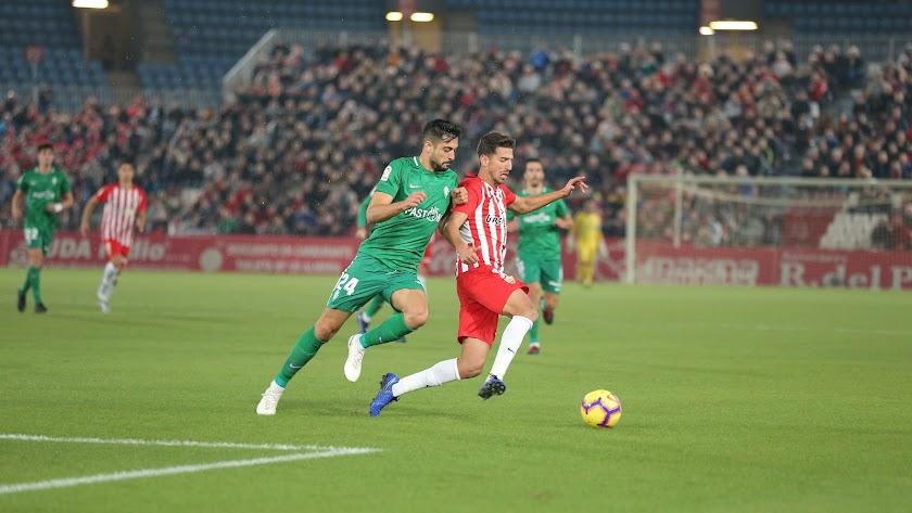 Juan Carlos en el partido contra el Sporting.