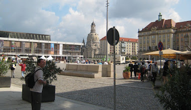 Photo: The Frauenkirche overlooks Neumarkt Plaza