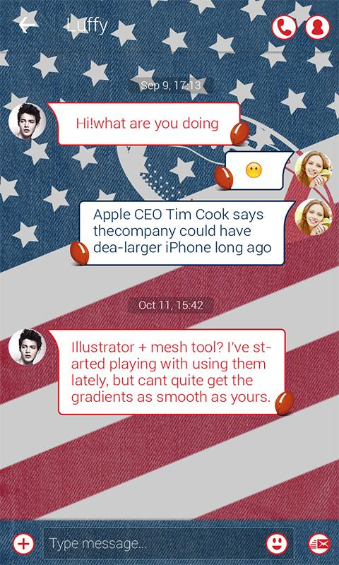 Скриншот FREE - GO SMS SUPERBOWL THEME